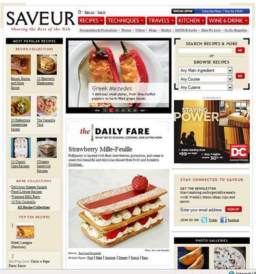 Rose-water Strawberry Mille-Feuille featured on SAVEUR